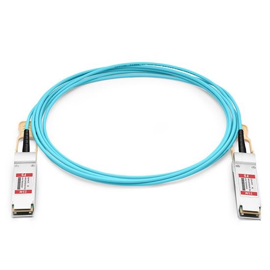 25m Arista Networks兼容AOC-Q-Q-100G-25M QSFP28 转 QSFP28 有源光缆