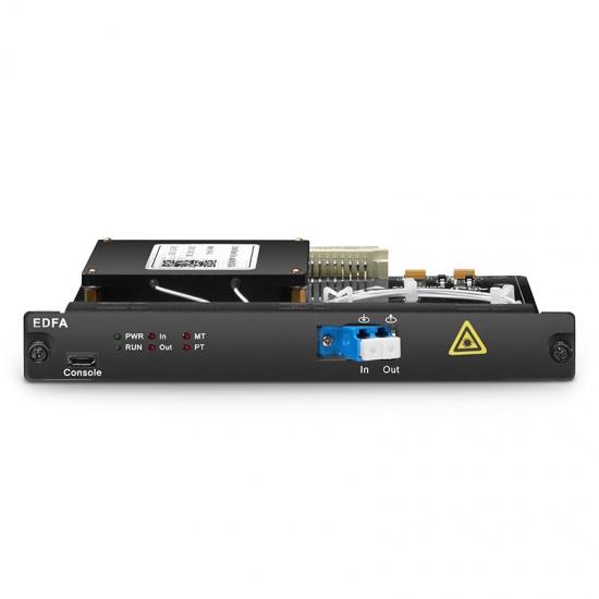 C-band 40通道 DWDM EDFA 掺铒前置放大器 20db增益 输出光 功率20dbm,热插拔,用于FMT光传输平台