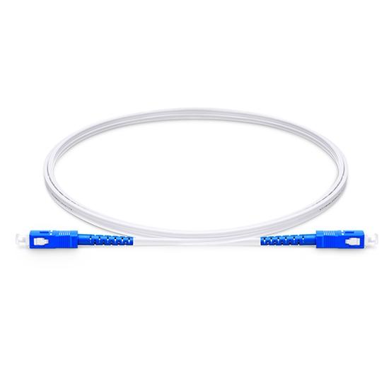 Câble Optique pour Intérieur (FTTH) LSZH, 2M (7ft) SC UPC vers SC UPC Simplex Monomode 9/125 OS2, Élément de Force FRP