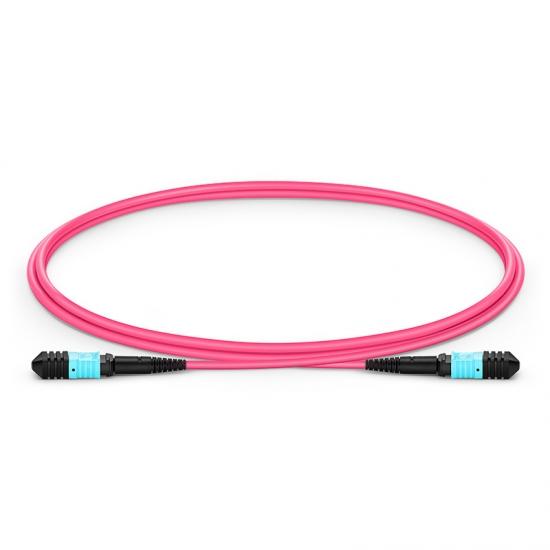 Cable troncal fibra óptica Senko MPO-Senko MPO 12 fibras tipo B 1m OM4/OM3 50/125 LSZH 3.0mm