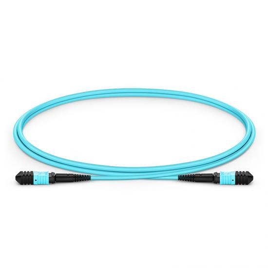 1m (3ft) Senko MPO Female 12 Fibers Type B LSZH OM3 50/125 Multimode Elite Trunk Cable, Aqua