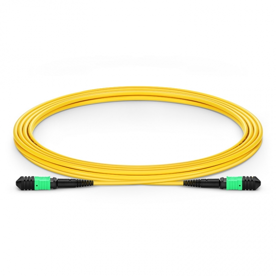 3m (10ft) Senko MPO Female 12 Fibers Type B LSZH OS2 9/125 Single Mode Elite Trunk Cable, Yellow
