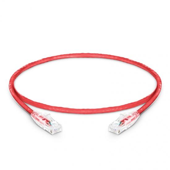 0.3m Cat5e超五类非屏蔽(UTP)网络跳线,卡沟设计,红色,PVC  CM
