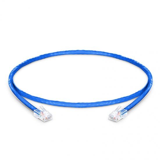 1ft (0.3m) Cat5e Non-booted Unshielded (UTP) PVC CM Ethernet Network Patch Cable, Blue
