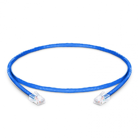 1ft (0.3m) Cat6 Non-booted Unshielded (UTP) PVC CM Ethernet Network Patch Cable, Blue