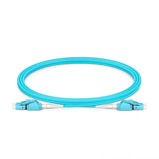 2m LC/UPC-LC/UPC 双工多模OM4极性转换式光纤跳线,PVC(OFNR)