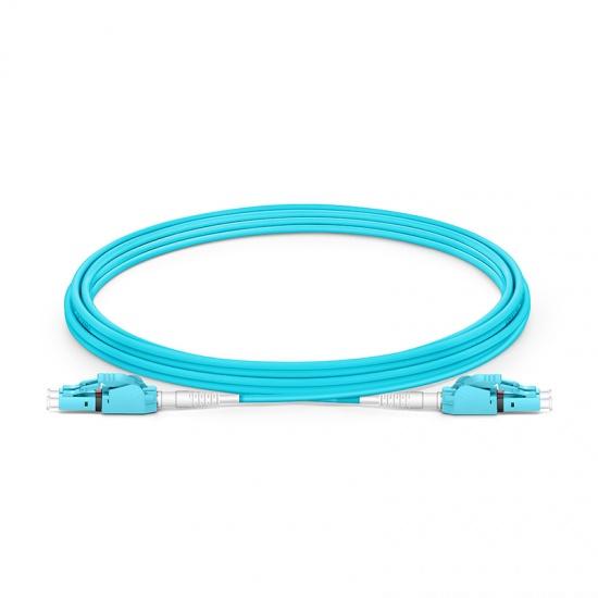 3m LC/UPC-LC/UPC 双工多模OM3极性转换式光纤跳线,PVC(OFNR)