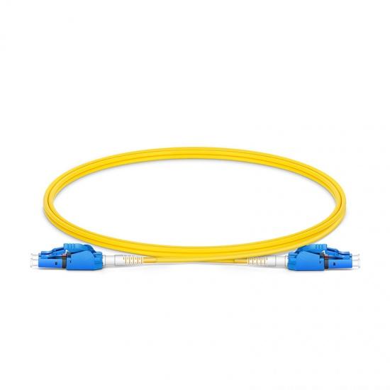 1m LC/UPC-LC/UPC 双工单模OS2极性转换式光纤跳线,PVC(OFNR)