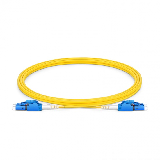 2m LC/UPC-LC/UPC 双工单模OS2极性转换式光纤跳线,PVC(OFNR)