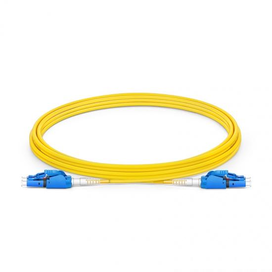 3m LC/UPC-LC/UPC 双工单模OS2极性转换式光纤跳线,PVC(OFNR)