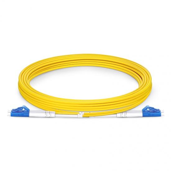 3m LC/UPC-LC/UPC双工单模OS2光纤跳线,0.12dB低插损,弯曲不敏感,PVC(OFNR)