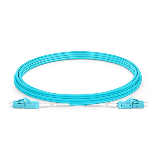 3m LC/UPC-LC/UPC万兆双工多模OM4光纤跳线,一管双芯,弯曲不敏感, PVC(OFNR)
