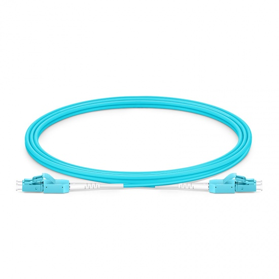 2m LC/UPC-LC/UPC万兆双工多模OM3光纤跳线,一管双芯,弯曲不敏感, PVC(OFNR)