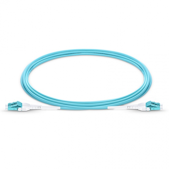 Customized LC UPC to LC UPC Uniboot Duplex 0.2dB IL OM4 Multimode 2.0mm BIF Fiber Optic Patch Cable
