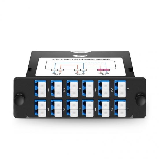 24芯 12xLC双工万兆单模(OS2)FHD TAP配线盒,70/30分光比,1/10/40/100G