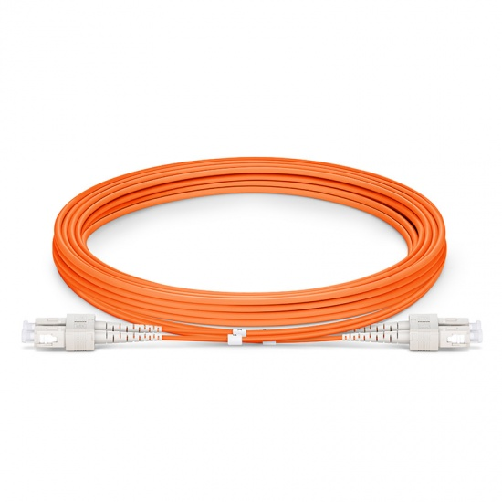 3m (10ft) SC UPC to SC UPC Duplex 3.0mm PVC (OFNR) OM1 Multimode Fiber Optic Patch Cable