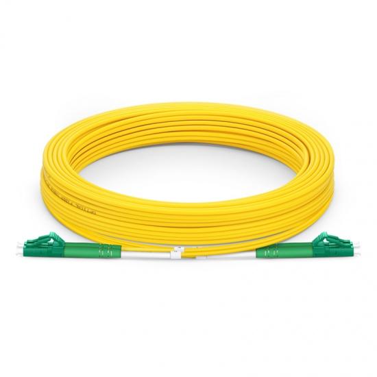 Cable/latiguillo/jumper fibra óptica internet LC/APC a LC/APC 10m OS2 9/125 monomodo PVC 3.0mm