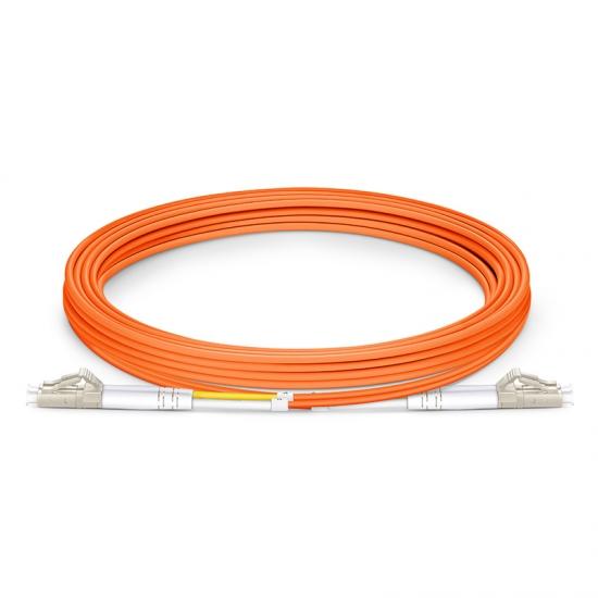3m (10ft) LC UPC to LC UPC Duplex 3.0mm PVC (OFNR) OM1 Multimode Fiber Optic Patch Cable