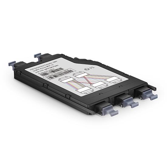 24芯  3×MTP-8芯(公头) - 2×MTP-12芯(公头)多模(OM4)超高密度光纤配线盒