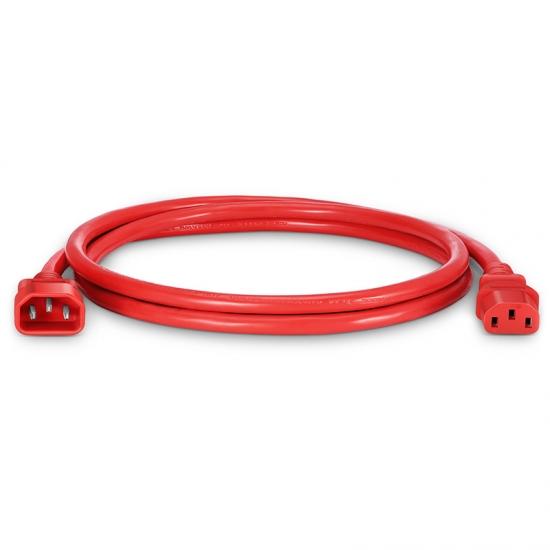 1.2m 14AWG 250V/15A 电源线,IEC320 C14 转 IEC320 C13,红色