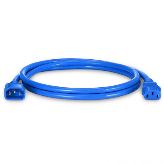 1.5m 14AWG 250V/15A 电源线,IEC320 C14 转 IEC320 C13,蓝色