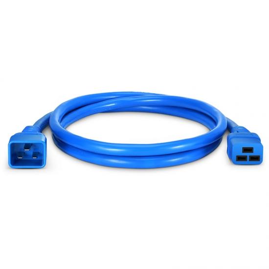 1.5m 12AWG 250V/20A 电源线,IEC320 C20 转 IEC320 C19,蓝色