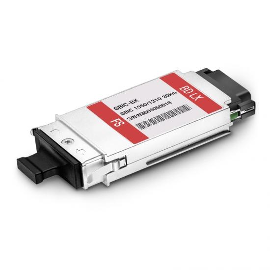 定制1000BASE-BX GBIC光模块 1550nm-TX/1310nm-RX 20km