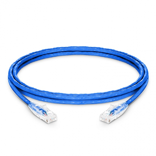 7ft (2.1m) Cat5e Snagless Unshielded (UTP) PVC CM Ethernet Network Patch Cable, Blue