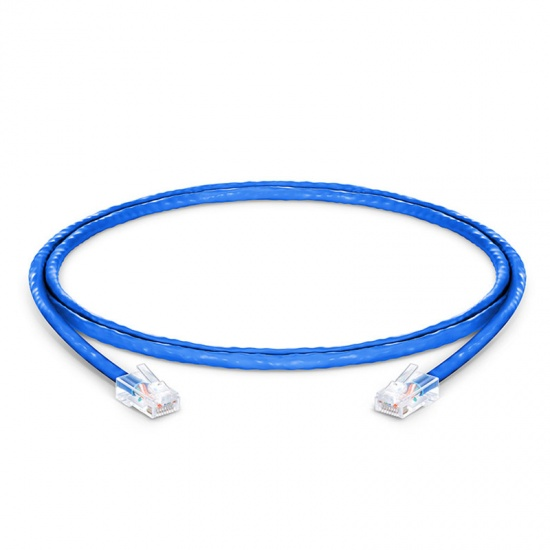 0.9m Cat5e超五类非屏蔽(UTP)网络跳线,无尾套设计,蓝色,PVC  CM