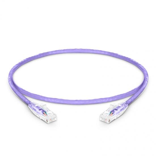 0.6m Cat6六类非屏蔽(UTP)网络跳线,卡沟设计,紫色,PVC CM