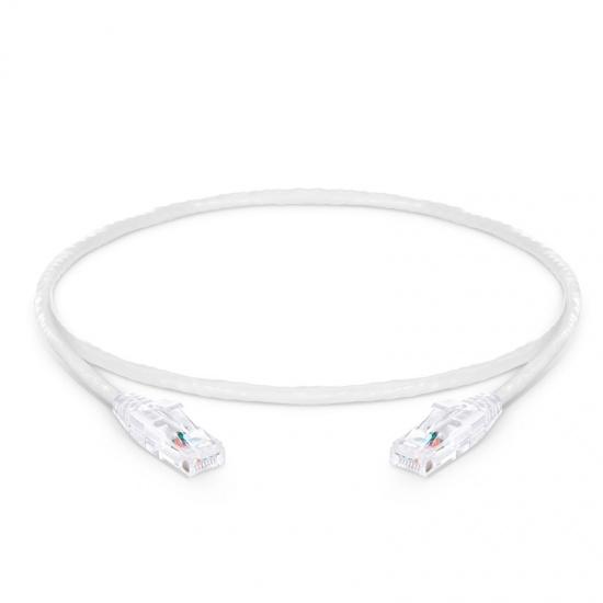 0.6m Cat6六类非屏蔽(UTP)网络跳线,卡沟设计,白色,PVC CM