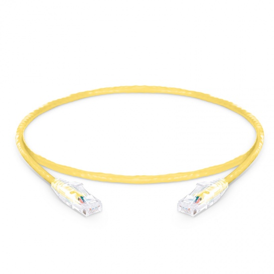 2ft (0.6m) Cat6 Snagless Unshielded (UTP) PVC CM Ethernet Network Patch Cable, Yellow