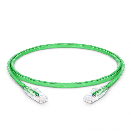 3ft (0.9m) Cat6 Snagless Unshielded (UTP) PVC CM Ethernet Network Patch Cable, Green