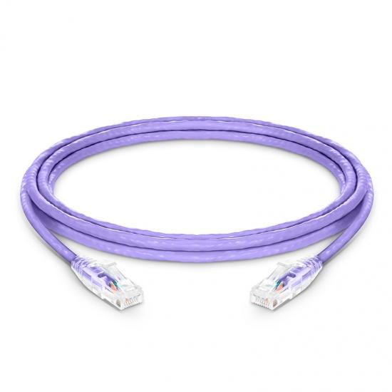 12ft (3.7m) Cat6 Snagless Unshielded (UTP) PVC CM Ethernet Network Patch Cable, Purple