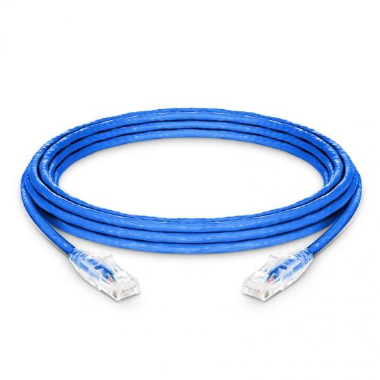 4.6m Cat6六类非屏蔽(UTP)网络跳线,卡沟设计,蓝色,PVC CM