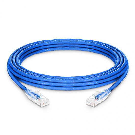7.6m Cat6六类非屏蔽(UTP)网络跳线,卡沟设计,蓝色,PVC CM