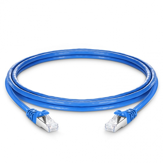 7ft (2.1m) Cat6 Snagless Shielded (SFTP) PVC CMX Ethernet Network Patch Cable, Blue