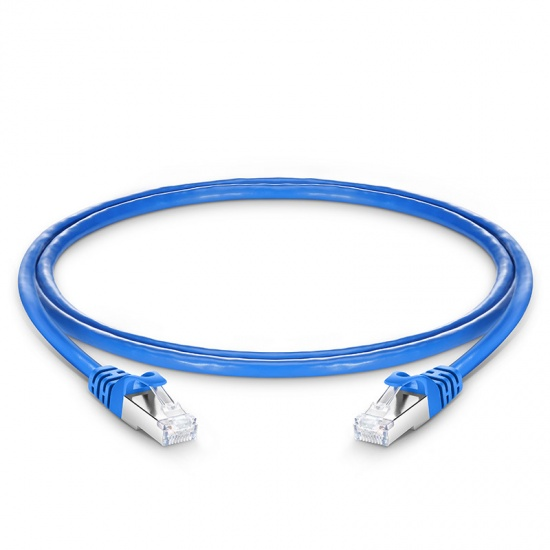 3ft (0.9m) Cat6a Snagless Shielded (SFTP) PVC Ethernet Network Patch Cable, Blue