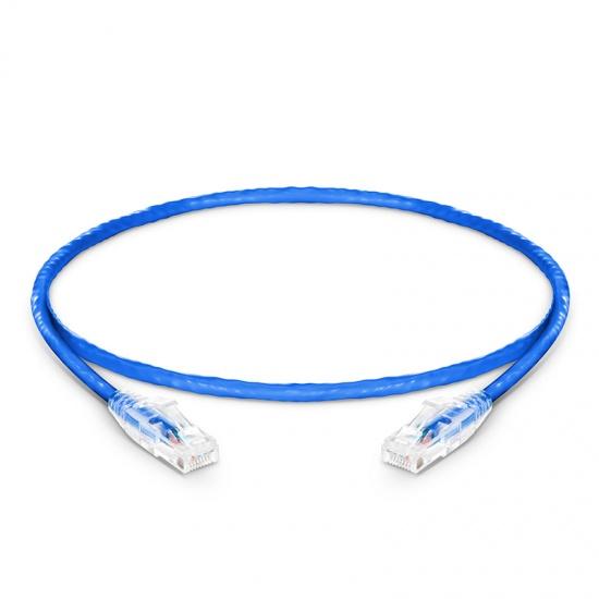 0.3m Cat6六类非屏蔽(UTP)网络跳线,卡沟设计,蓝色,PVC CM
