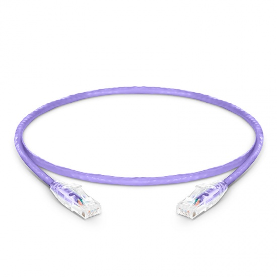 1ft(0.3m) Cat6 Ungeschirmtes (UTP) PVC CM Ethernet Patchkabel, Snagless, Violett