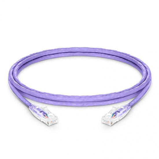 5ft (1.5m) Cat6 Snagless Unshielded (UTP) PVC CM Ethernet Network Patch Cable, Purple