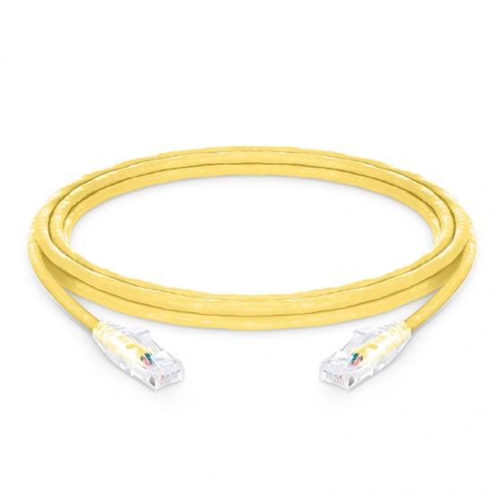 3m Cat6六类非屏蔽(UTP)网络跳线,卡沟设计,黄色,PVC CM
