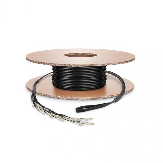定制1-24芯 多模OM4军用级野战光纤跳线