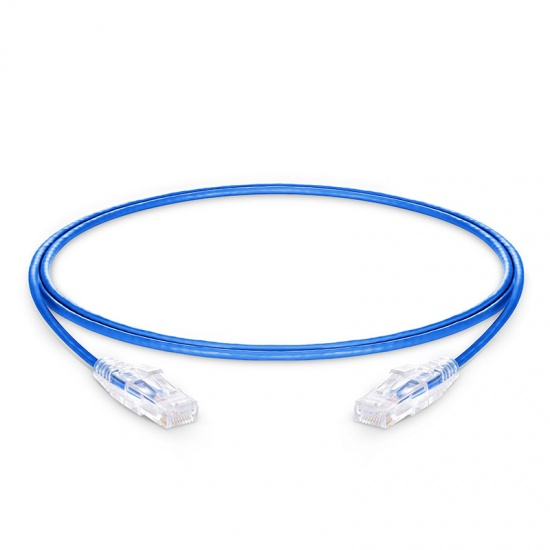 4ft(1.2m) Cat6 Ungeschirmtes (UTP) PVC CM Ethernet Patchkabel, Slim, Snagless, Blau