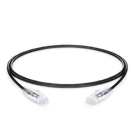 4ft (1.2m) Cat6 Snagless Unshielded (UTP) PVC CM Slim Ethernet Network Patch Cable, Black
