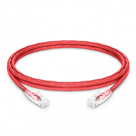 1.5m Cat5e Ethernet Patch Cable - Snagless, Unshielded (UTP) PVC CM, Red