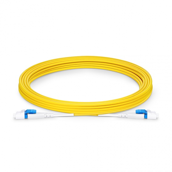 5м (16ft) Патч-корд Оптический LC-LC/UPC SM 9/125 Duplex 2.0mm PVC(OFNR) Uniboot BIF