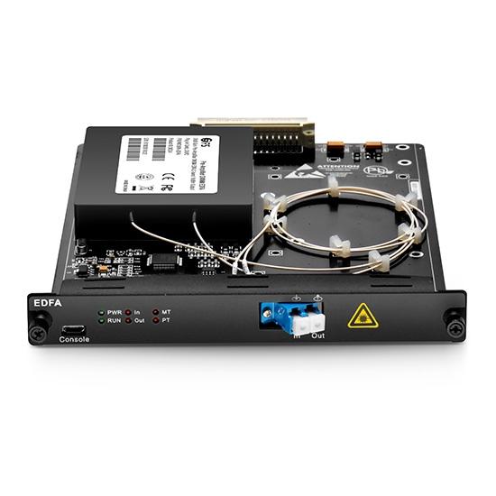 17dBm Output Booster DWDM EDFA C-Band 17dB Gewinn, LC/UPC, steckbares Modul für FMT Multiservice-Übertragungsplattform
