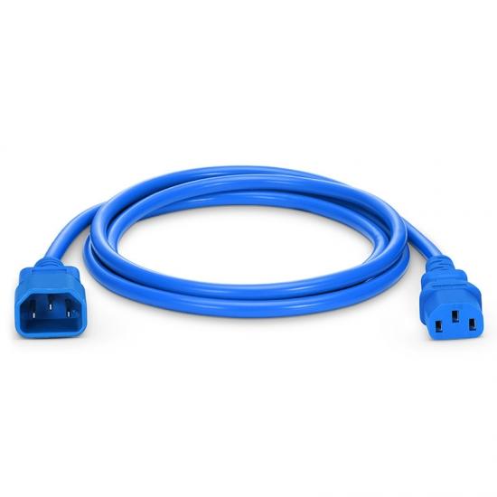 1,8m (6ft) IEC320 Netzkabel-Verlängerung (C14 auf C13, 18AWG, 250V/10A, Blau)