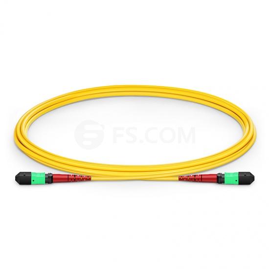 MTP Trunkkabel, 2m (7ft) MTP Buchse, 24 Fasern OS2 9/125 Singlemode, CPAK-10x10G-LR, Polarität A (TIA-568), Elite, Plenum (OFNP), Gelb
